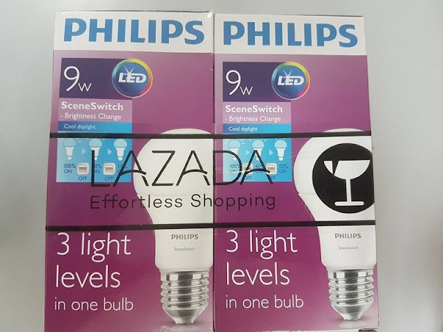 Philips Scene Switch (3 steps brightness change) LED bulb 9W (equivalent of 7W) E27