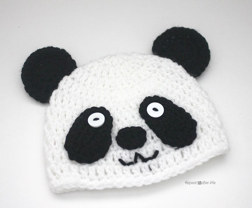 Crochet Panda Bear Hat Repeat Crafter Me