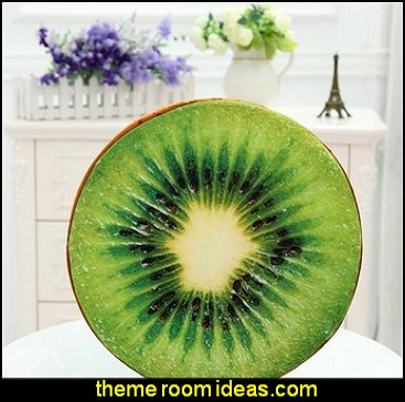 Kiwi Fruit Design Throw Pillow kitchen accessories - fun kitchen decor - decorative themed kitchen  - novelty mugs - kitchen wall decals - kitchen wall quotes - cool stuff to buy - kitchen cupboard contact paper -  kitchen storage ideas - unique kitchen gadgets - food pillows