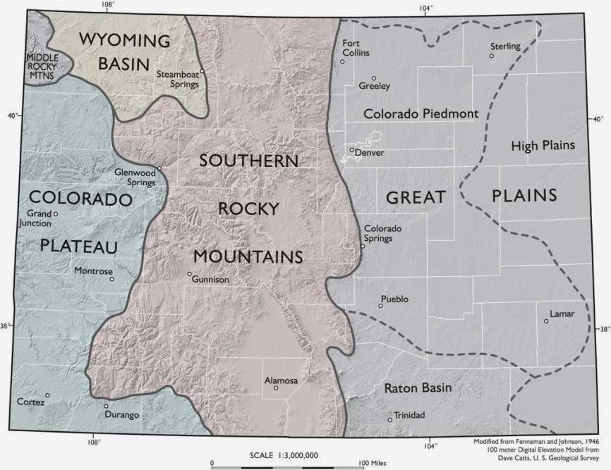 Csms Geology Post Colorado Geology I 25 Corridor South