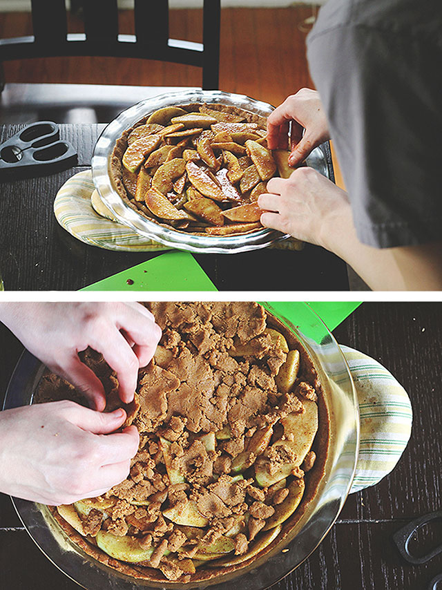 Delicious gingerbread apple pie recipe
