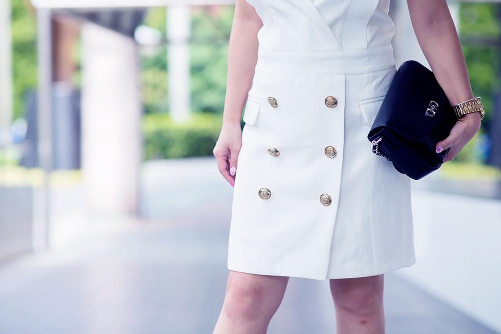 Crystal Phuong x  Revolve Clothing- Endless Rose button blazer dress
