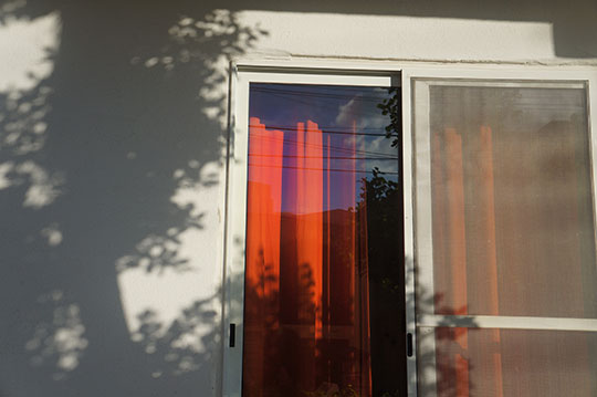 orange curtains, urban photography, artist, photographer, urban photo, contemporary photography,