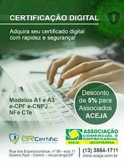 Associação Comercial de Jacupiranga inicia emissão de certificação digital