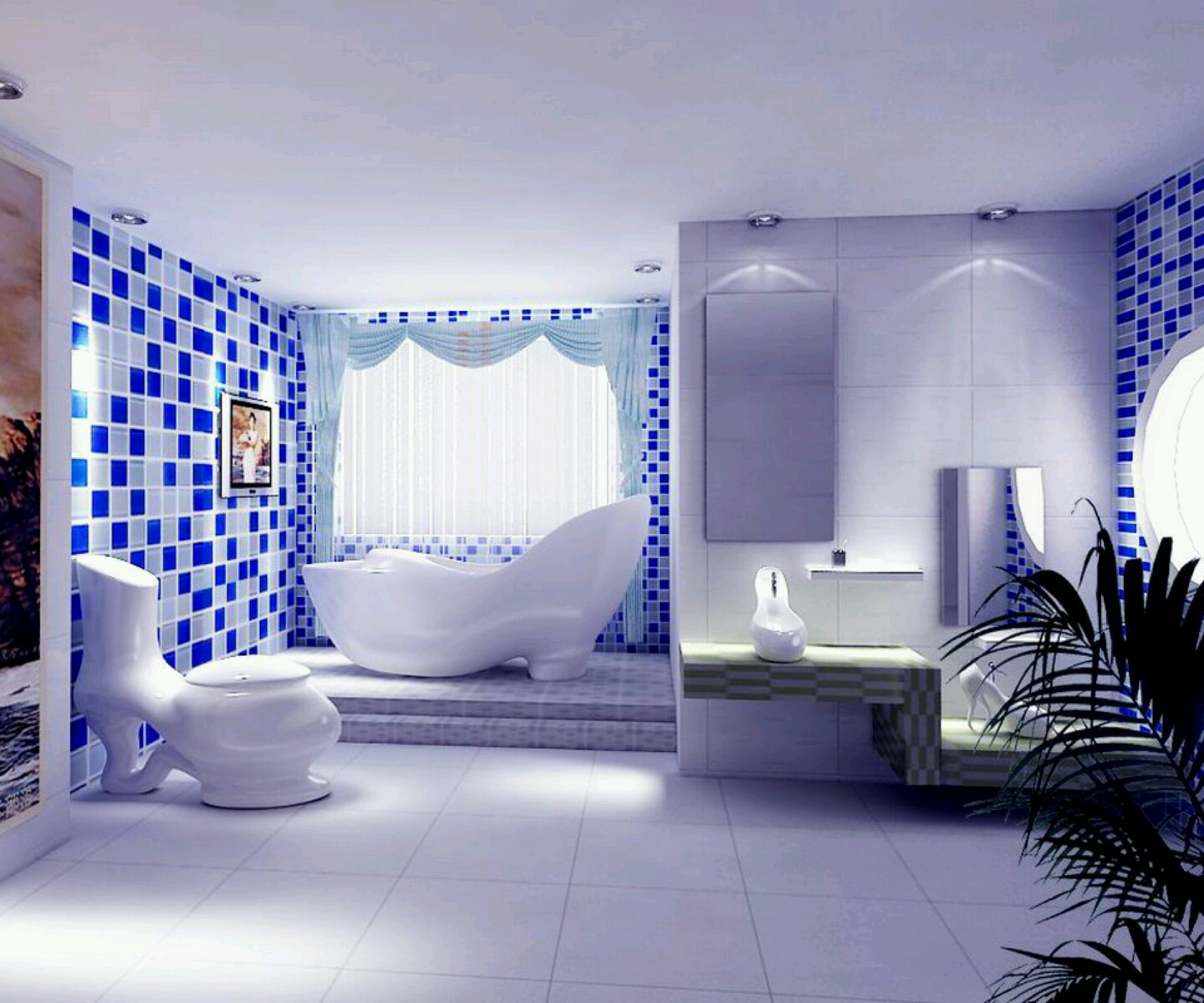 New Home Designs Latest Modern Interior Decoration: Home Designs: Ultra Modern Washroom Designs Ideas