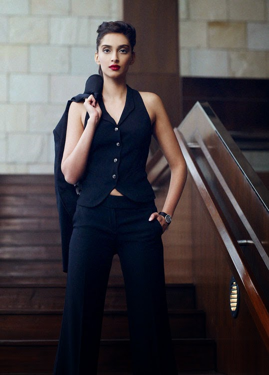 sonam-kapoor-in-black-formal-wear-in-cosmopolitan-magazine