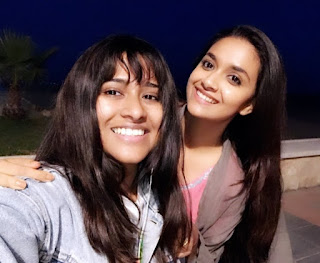 Keerthy Suresh with Cute and Awesome Smile with her Stylist at Malaga in Spain