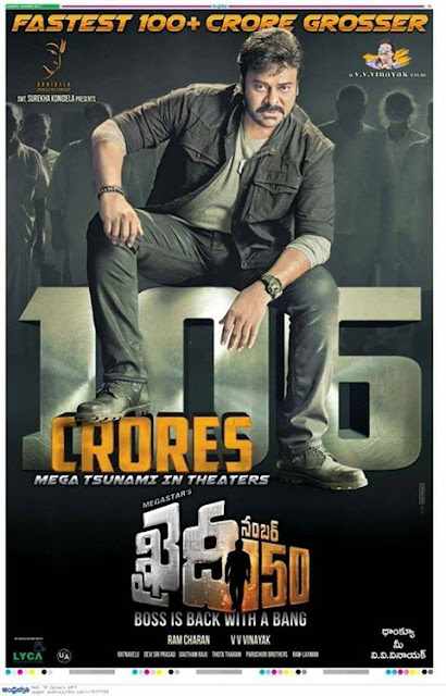Khaidi No 150 First Week Boxoffice Collection Rs 108.48 Crores