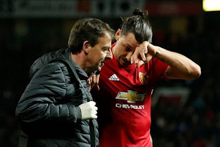 Footballer Zlatan Ibrahimovich injury