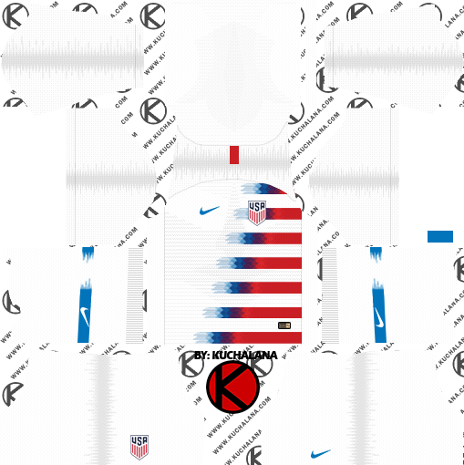 dd618f4ea The United State USA 2018 World Cup Kit - Dream League Soccer Kits