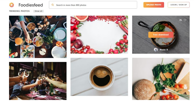 download food images