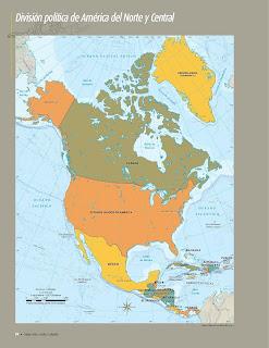 Apoyo Primaria Atlas de Geografía del Mundo 5to. Grado Capítulo 3 Lección 1 División Política de América del Norte y Central