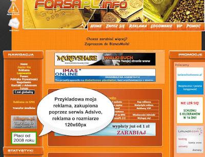 Reklma o rozmiarze 120x60px, kupiona poprzez serwis AdsIvo