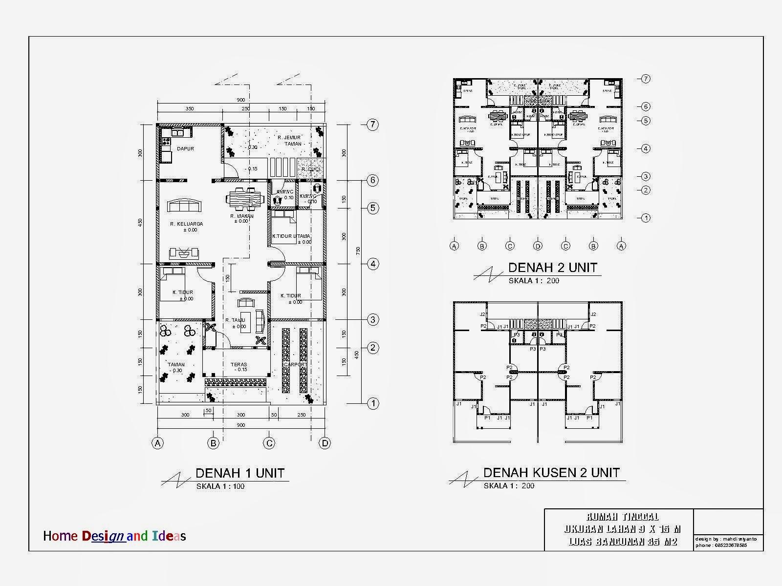 Image Result For Denah Rumah Sederhana Ukuran X