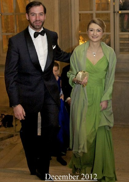 Hereditary Grand Duke Guillaume and Grand Duchess Stephanie attended Luxembourg Society's 75th anniversary