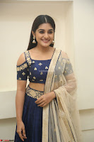 Niveda Thomas in Lovely Blue Cold Shoulder Ghagra Choli Transparent Chunni ~  Exclusive Celebrities Galleries 085.JPG