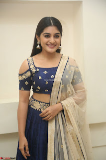 Niveda Thomas in Lovely Blue Cold Shoulder Ghagra Choli Transparent Chunni ~ Exclusive Celebrities Galleries 085