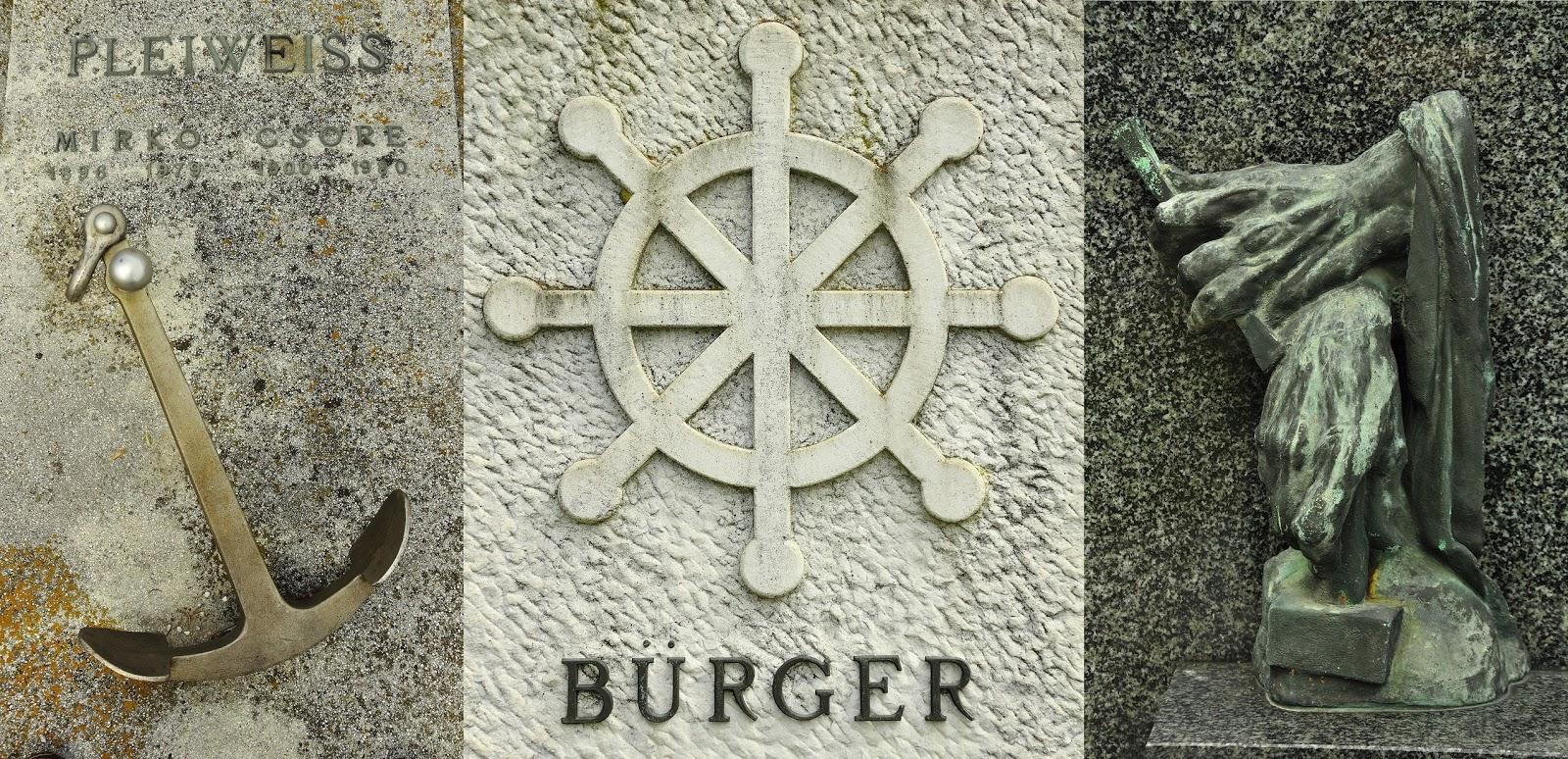 Symbols at Cemetery Pobrežje (Slovenia)