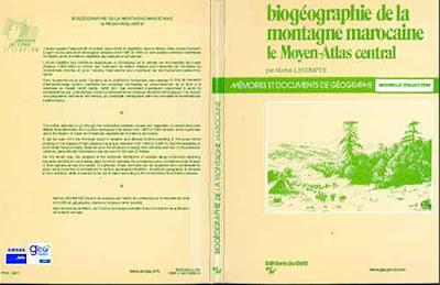 Biogéographie de la montagne marocaine: Le Moyen-Atlas central