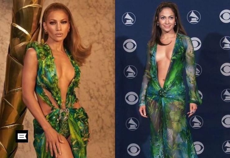 Video: JLo se roba el show con icónico vestido de Versace