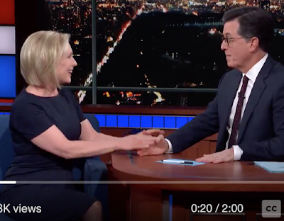 Here s the clip from Colbert s talk show last night, where Gillibrand announced that she was forming an exploratory committee.