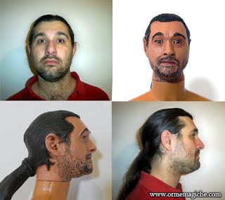 mini ritratti viso personalizzati orme magiche scultura modellino action figure personalizzata pupazzo con la mia faccia