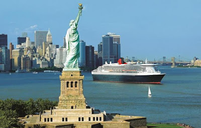 Cunard Line's Queen Mary 2 was one of 3 ships departing from New York and New Jersey Today