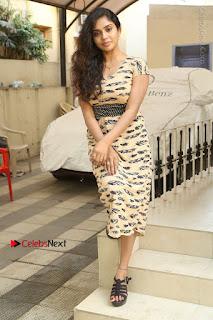 Telugu Actress Karunya Chowdary Stills in Short Dress at ATM Not Working Press Meet  0275.jpg
