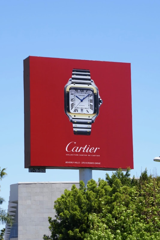 Cartier Watch billboard