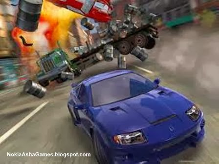 Burnout 3D car racing Game Download for Nokia Asha 305 306