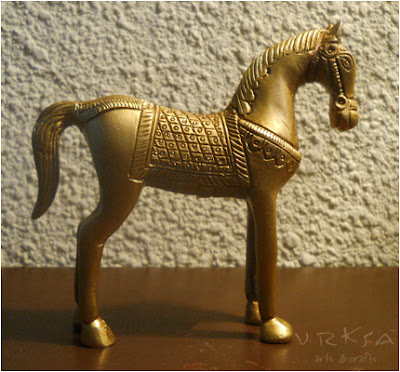 Vrksa Arts Amp Crafts Horse Indian Tribal Brass Crafts