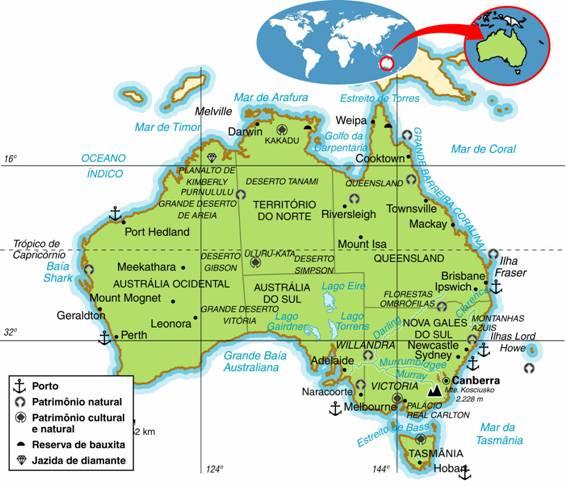 Austrália | Aspectos Geográficos e Socioeconômicos da Austrália