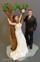 idee regalo anniversario scultura da foto cake topper realistici personalizzati orme magiche