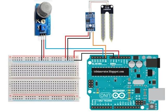 Rangkaian Membaca 2 sensor pada Arduino