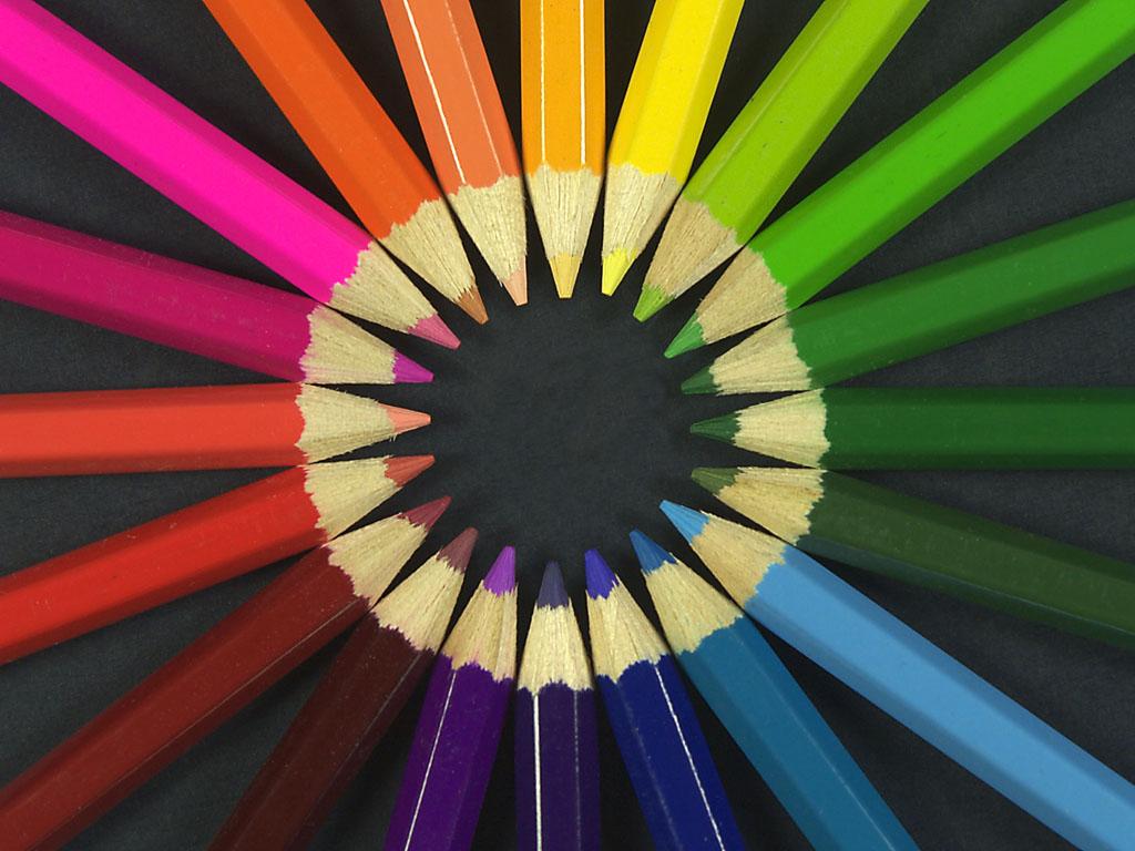 3d Desktop Wallpaper Gambar Gambar Pensil Warna Cantik