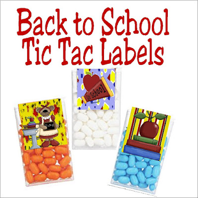 Back to School Tic Tac Labels