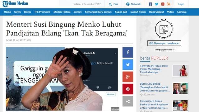 Pernyataan Lucu dan Konyol Para Menteri Indonesia