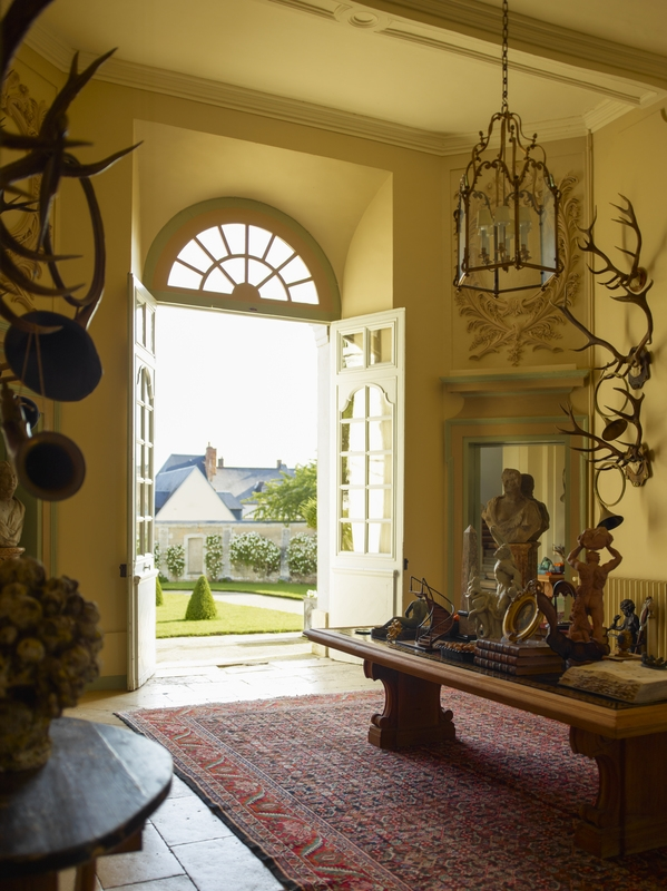 Eye for design decorating with deer mounts for a french for French chateau style decor