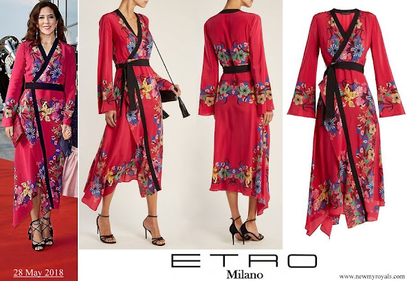 Crown Princess Mary wore ETRO fluorite printed silk-chiffon dress