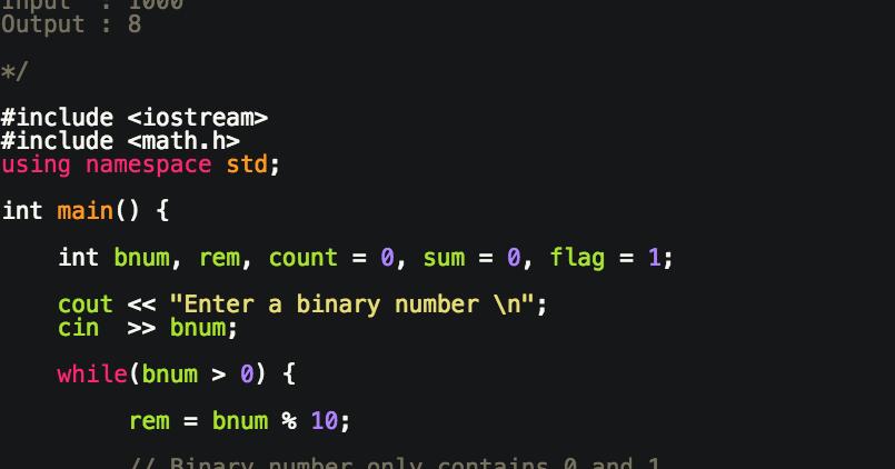 Programming Tutorials C Program To Convert Binary To