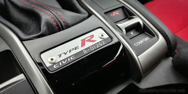 2017 Honda Civic Type R serial number