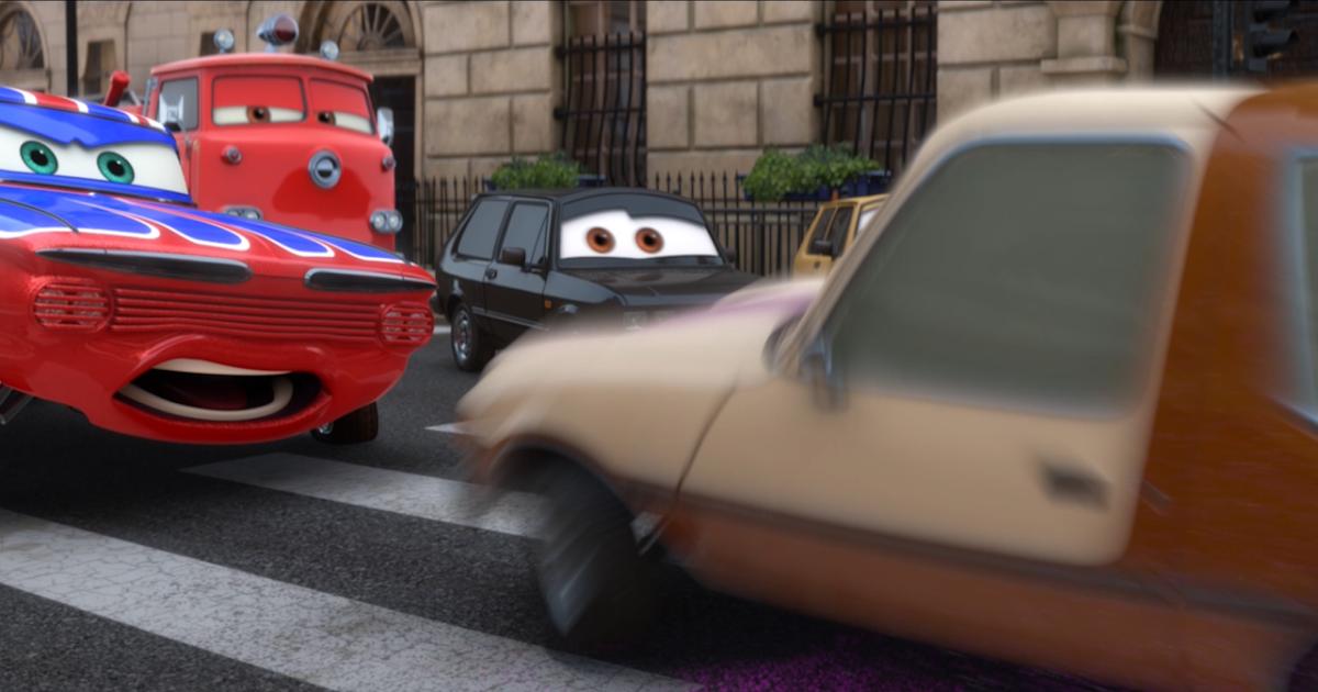 Dan the Pixar Fan: Cars 2: Body Shop Union Jack Ramone