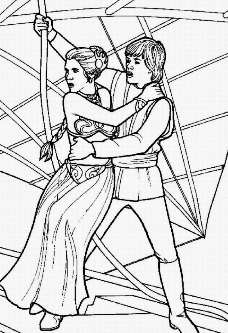 Coloring pages star wars free printable coloring pages for Princess leia coloring page