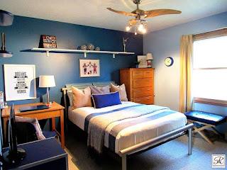 cat kamar tidur sederhana
