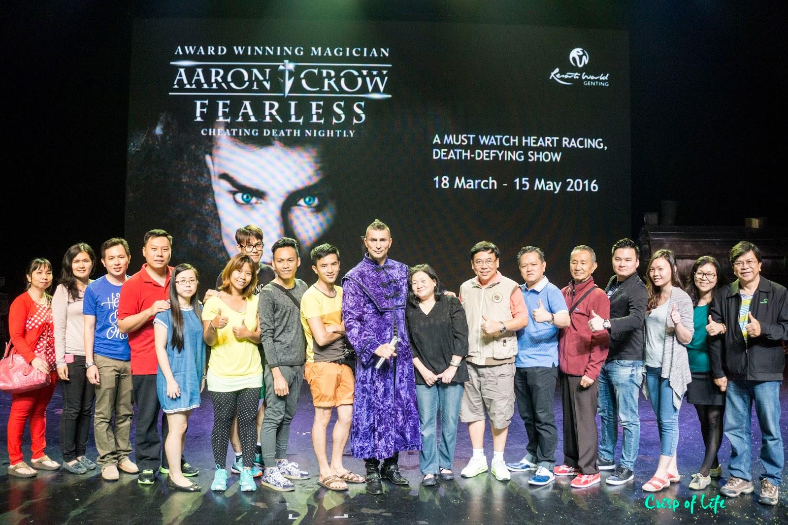 Aarow Crow Fearless Mentalist Resorts World Genting