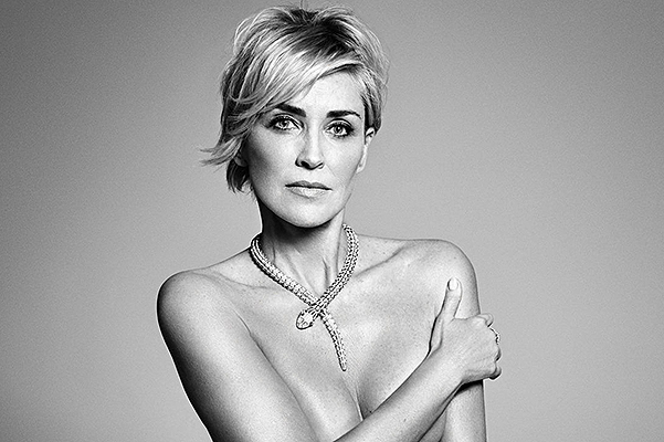 Sharon Stone shot for Harper's Bazaar nude