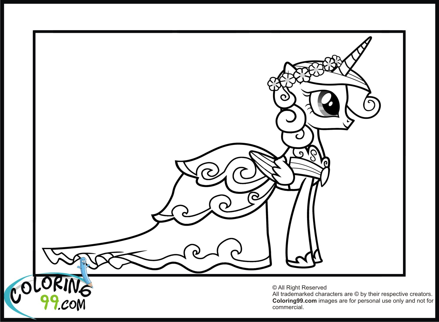 Princess Cadence Coloring Pages | Minister Coloring