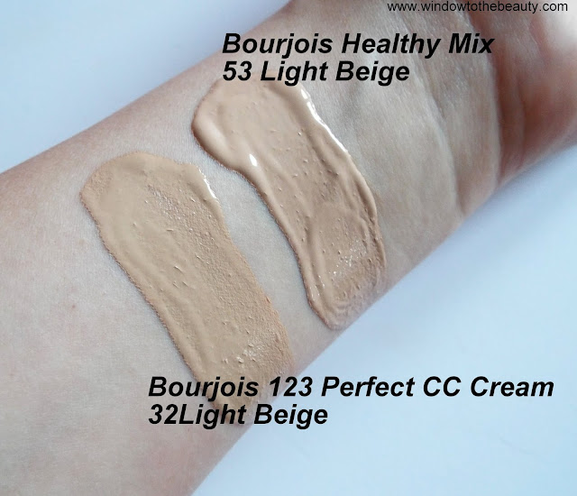 Bourjois 123 Perfect CC Cream shades swatches
