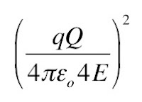 The leading constant factor in the Rutherford scattering formula.