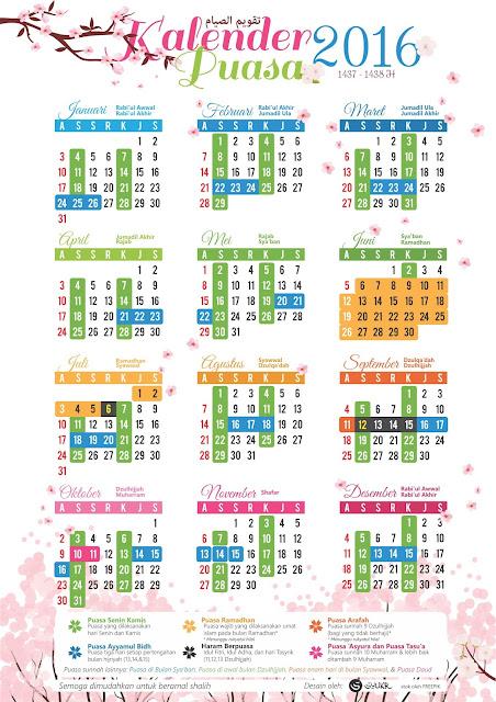 Jadwal Puasa dan Kalender Ramadhan 1437 H - 2016 M